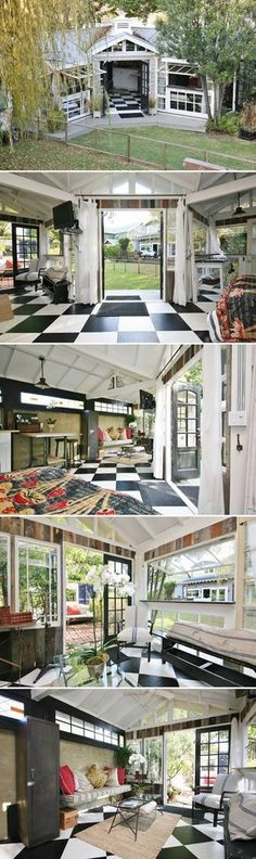 The Craftsman Mini-Me is a 400-square-foot backyard guest house located in Venice, California and available for rent through Airbnb.