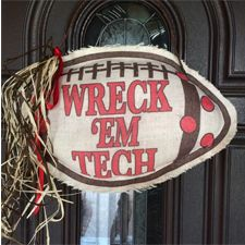 Wreck 'em Tech Burlap Decor