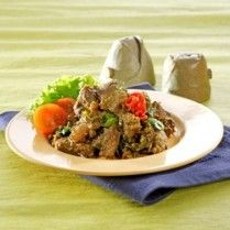 oseng-oseng daging daun kunyit