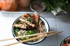 Banh Mi-ish Bowls + Ginger Sriracha Mayo — All Purpose Flour Child Healthy Food Options, Healthy Recipes, Japchae, Sandwiches, Salad, Beef, Purpose, Child, Ethnic Recipes