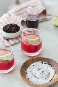 Hibiscus Margarita Recipe - Sugar and Charm - sweet recipes - entertaining tips - lifestyle inspiration