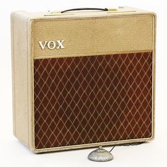"""For sale is this vintage 1962 Vox AC15 combo amplifier. This clean all original example, serial number 4571B, is considered by many amp enthusiasts to be the holy grail of Vox amps. It sports a single Celestion """"Blue Bulldog"""" 12"""" speaker, a """"Candy Panel"""" control plate, and Fawn exterior with leat..."""