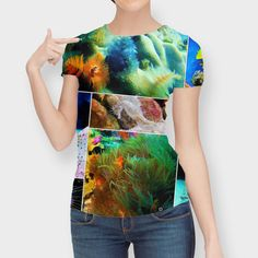 Discover «Underwater Caribbean Sea Collage», Numbered Edition Women's All Over T-Shirt by Elaine Plesser - From $39 - Curioos