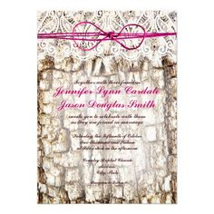Rustic Country Camo with Pink Twine Bow Wedding Invitations. Two Sided Design. http://www.zazzle.com/rustic_country_camo_pink_bow_wedding_invitations-161796890065074437?rf=238133515809110851
