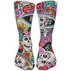 SEyuKBP Unique Dia De Los Muertos Girls Dress Socks Womens Crew Socks Womens Fashion Casual Summer, Dress Socks, Girls Dresses, Women's Fashion, Unique, Dia De, Dresses Of Girls, Dresses For Girls