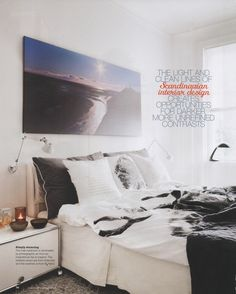 Canvas prints work well above a bed.