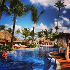 Blue sky, palm trees, pool side... yes, life can be sweet ;) #ExcellencePuntaCana #AdultsOnlyVacation