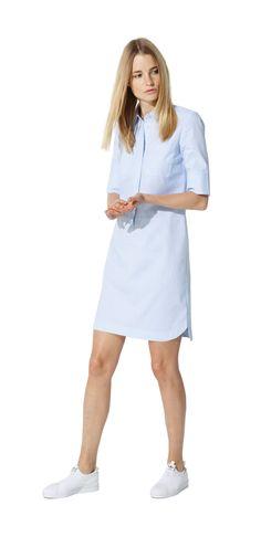 Damen Outfit Sportiver Freizeitlook von OPUS Fashion: blaues Kleid