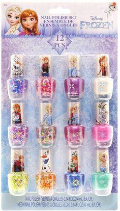 Disney's Frozen Anna & Elsa Nail Polish Set – Erik's Home Little Girl Toys, Baby Girl Toys, Toys For Girls, Makeup Kit For Kids, Kids Makeup, Nail Polish Sets, Nail Polish Colors, Disney Nails, Disney Disney