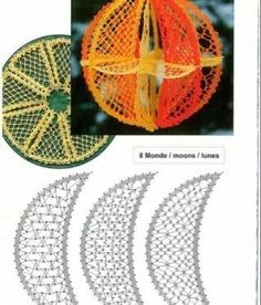 Bbkkk Lacemaking, Bobbin Lace, Christmas Balls, Sewing Stores, Sewing Crafts, Projects To Try, How To Make, Patterns, Bobbin Lacemaking