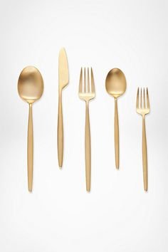 DVF gold flatware