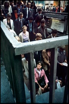 """""""In all my time taking pictures on the tube, only one person ever objected, """" revealed photographer Bob Mazzer, """"and that was a guy with a huge teddy bear on his lap, which was a pity because it would have been a great picture."""" Spitalfieldslife.com"""