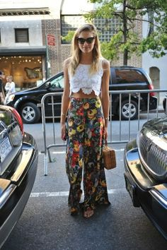 Cropped Top + Floral Palazzo Pants #SS14 www.blueisinfashionthisyear.com