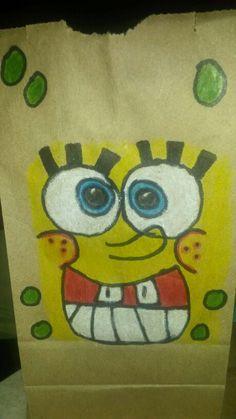 Mis dibujo en las bolsas para los dulces.