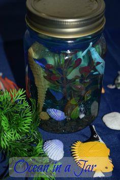 Ocean in a Jar. #OceanInAJar #Crafts #DIY