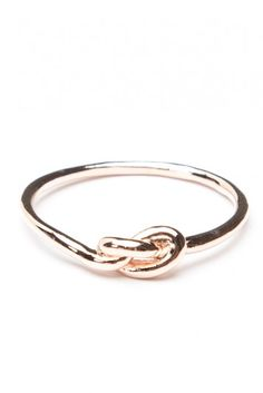 Brandy ♥ Melville | Rose Gold Knot Ring - Accessories