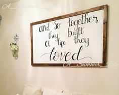 Wall art wood sign wall framed extra large  love quote valentines gift wood wall sign rustic bedroom decor wall plaque wooden sign framed