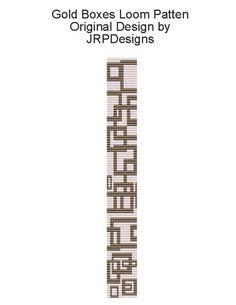 Gold Boxes--Loom Pattern, handmade, beadwork | JRPDesigns - Patterns on ArtFire