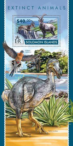 Post stamp Solomon Islands SLM 15215 bExtinct animals (Capra pyrenaica pyrenaica)