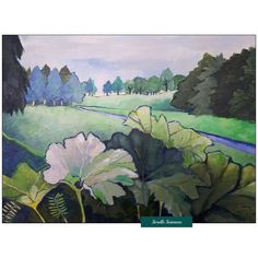 Depth Perception, Landscape Paintings, Illusions, Serenity, Netherlands, Roots, Blue Green, Contemporary Art, Layers