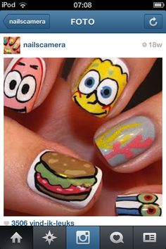 #spongebob #nagels