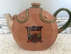 Rare HTF Retired Department 56 Grizzly Bear Park Campground Pitcher Display Used