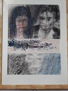 #tableau en #technique #mixte #pastel #papierfroissé de l'#artiste #brigitteblanc #blanc #contemporain #contemporary #art #french