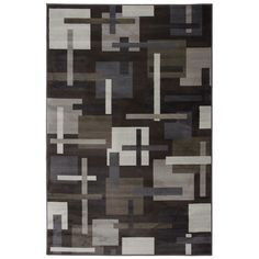 Modern geometric patterns lend a contemporary look to this unique rug. Complementary to a variety of room settings from casual to modern, the neutral earth tones coordinate with almost any color scheme for a versatile, plush rug.