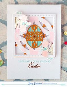 Joyous Easter Card by Betsy Veldman for Papertrey Ink (February 2015)