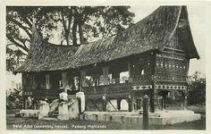 Balai Adat (Assembly house) Padang Highlands. circa 1900