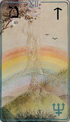 The Hanged Man from Haindl Tarot