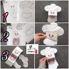 Nasrettin Hoca..  Yapım aşamaları için youtube kanalımızı ya da www.KIRTKIRTLA.com adresimizi ziyaret edebilirsiniz. Diy And Crafts, Crafts For Kids, Paper Crafts, Art Techniques, Puppets, Cool Kids, Paper Art, Art For Kids, Activities For Kids