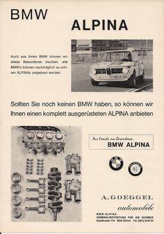 Bmw Alpina vintage ad