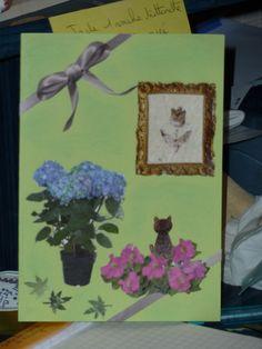 Hortensias au chat