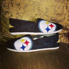 Www.etsy.com/shop/ceriseisabellamarie Custom painted #Pittsburgh #steelers #toms