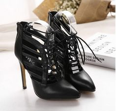 2016 spring Rome style cross straps sandals PU leather platform cross sandals sexy gladiator high heels
