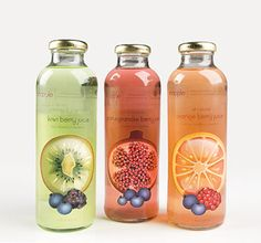 New fruit juice label design packaging Ideas Fruit Packaging, Beverage Packaging, Bottle Packaging, Simple Packaging, Packaging Ideas, Bottle Labels, Best Fruit Juice, New Fruit, Kombucha