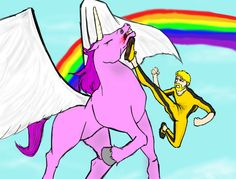 Me vs Pink Pegasus Unicorn by heartking52