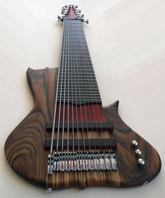 A 12 string Prometeus Guitars bass. Given what I heard off a youtube audio, the guitar has frequencies that go below what a human is capable of hearing (I KNOW THIS).