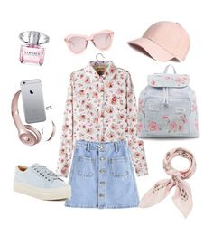 """""""My style"""" by annina-marina on Polyvore featuring мода, Marc Fisher LTD, New Look, Beats by Dr. Dre, Karen Walker, Manipuri и Versace"""