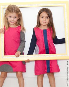 Be spotted! click on photo to shop this dress. The Matching Dots. Dotted kid's fashion. Gift ideas for little girls. Matching friends and sisters. Made in USA.