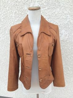 "Vtg1960s 1970s Women's East West Musical Instruments Leather ""Reptila"" JACKET #EastWestMusical"