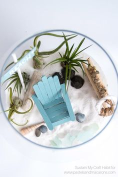 Learn to make a DIY fairy garden that's beach inspired