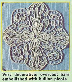 Anna Burda July 1998 Macramé Crochet Lace Close Up: Fiber Art Reflections