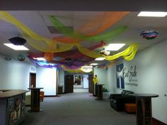 Hallway for VBS at East Side Church of God, Anderson, IN