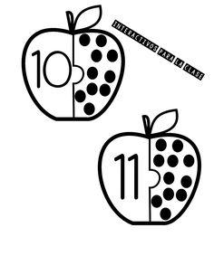 Back to School Number Matching - Kindergarten Math Centers Montessori Materials, Montessori Activities, Learning Activities, Preschool Activities, Fall Preschool, Preschool Curriculum, Kindergarten Math, Math Stations, Math Centers