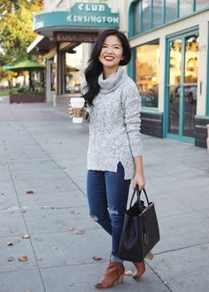 6a6d5fbee2b Skirt The Rules   Grey Turtleneck Sweater   Skinny Jeans