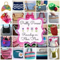 Fiber Flux...Adventures in Stitching: Pretty Purses! 20+ Free Crochet Purse Patterns...
