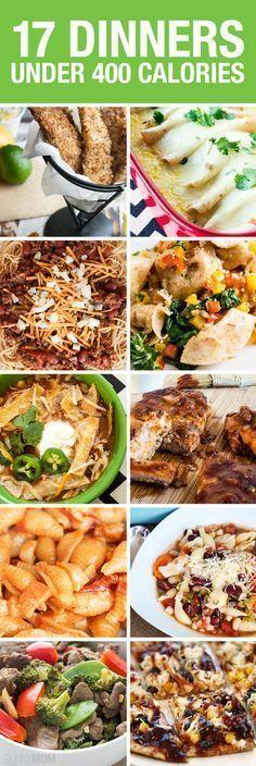 17 great healthy recipes all UNDER 400 CALORIES! Pin now, check later. 17 great recipes all UNDER 400 CALORIES! Popculture.com #healthyliving #healthyeating #fastdinner #easydinnerrecipes #familydinner #30minutedinner #dinnerideas