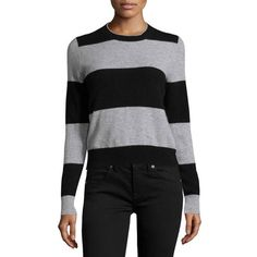 360 Cashmere Striped Pullover Sweater as seen on Gwen Stefani